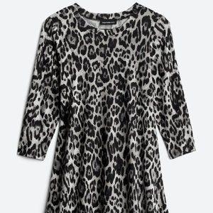 Fortune & Ivy Regina Hacci Animal Print Dress, XL